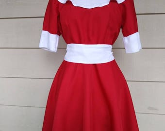 Annie the Musical Annie's Red dress costume sizes 3T - 16 years old