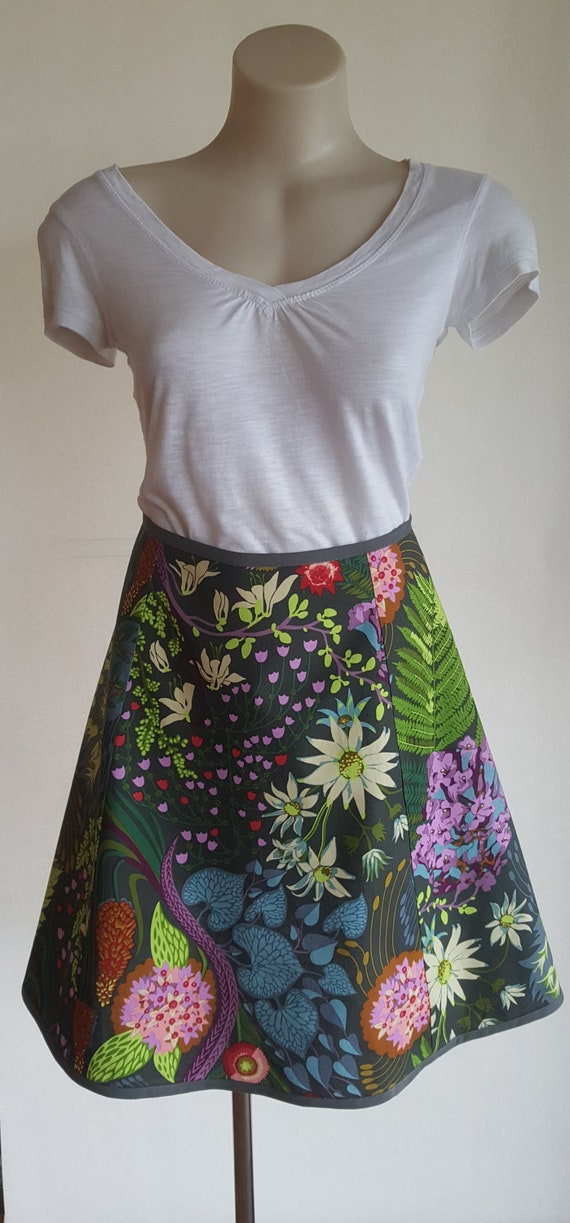 Australian Made Handmade Quilting Cotton Skirt Aline With Flare With Binding Invisible Zip Anna Maria Horner Sweet Dreams Source Code Spark