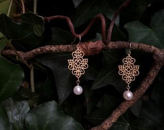 Royal Garden Gate Pearl Earrings
