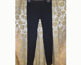 Charcoal Gray Metallic Leggings Tights Pants, S/M Goth Punk