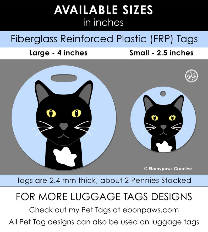 Ferret 4 Inch Round Plastic Bag Tag Luggage Tag