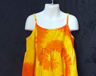 Dreamsicle orange Tye Dye Fun dans la robe d'été taille 2 t à taille 12