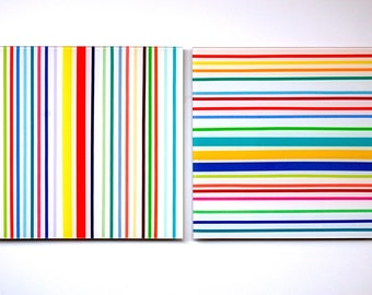 two piece modern stripes wall sculpture
