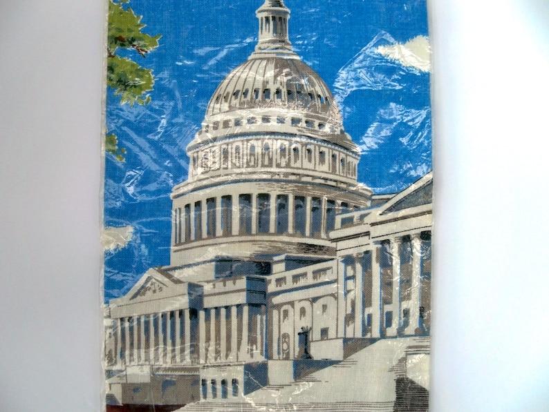 Vintage Tea Towel Capitol Original Kay Dee Packaging MWT U.S