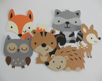 Woodland Forest Animal Cutouts - Child Birthday Party Decorations - Gender  Neutral Baby Shower Decorations - Photo Props - Set of 6 6a724fe2d7c1