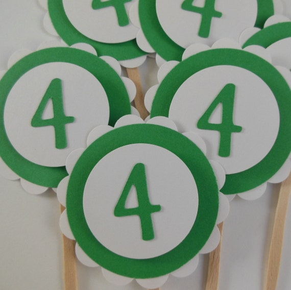 4th Birthday Cupcake Toppers