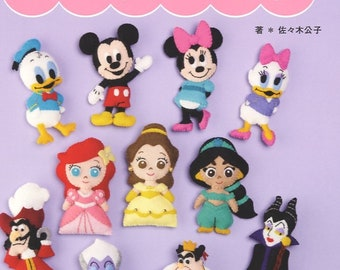 I love Disney Felt Mascots - Japanese Craft Book