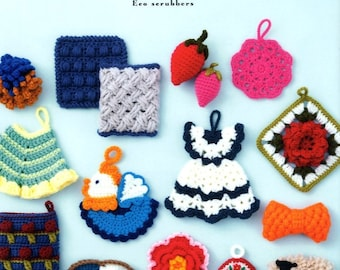 Retro Design Crochet SCRUBBERS and Cleaners  - Japanese Craft Book