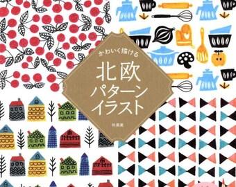 Scandinavian Designs Illustration Book - Japanese Craft Book