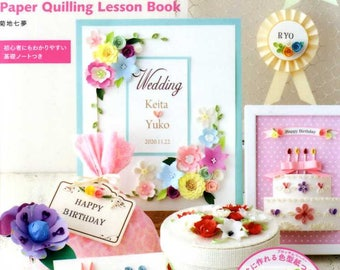 PAPER QUILLING Lesson Book - Japanese Craft Book