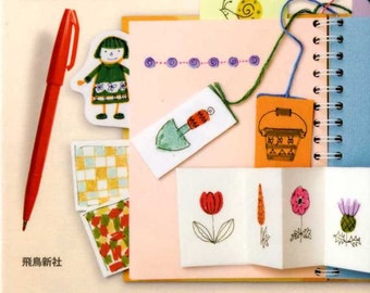 Easy Illustration Book using Fiber Tipped Pens - Japanese Book
