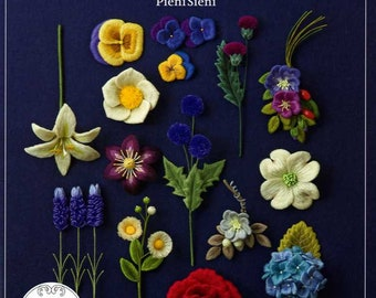 55 Felt Flowers by PieniSieni - Japanese Craft Book