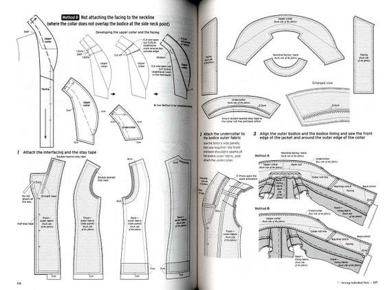 Jackets And Vests Bunka Fashion Series Garment Design Text Etsy