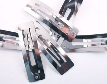 60mm Rectangular Snap Clips - 24 pieces