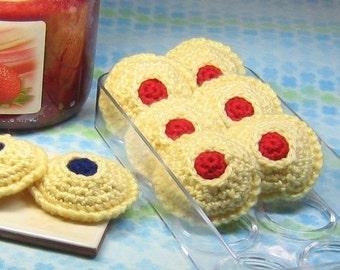 Thumbprint Cookies Crochet Pattern - Instant PDF Download