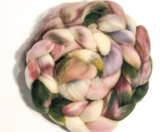 Handdyed Cheviot Wool Top   Roving   Wool for Spinning   Wool for Felting   4oz. Braid  Samantha 1
