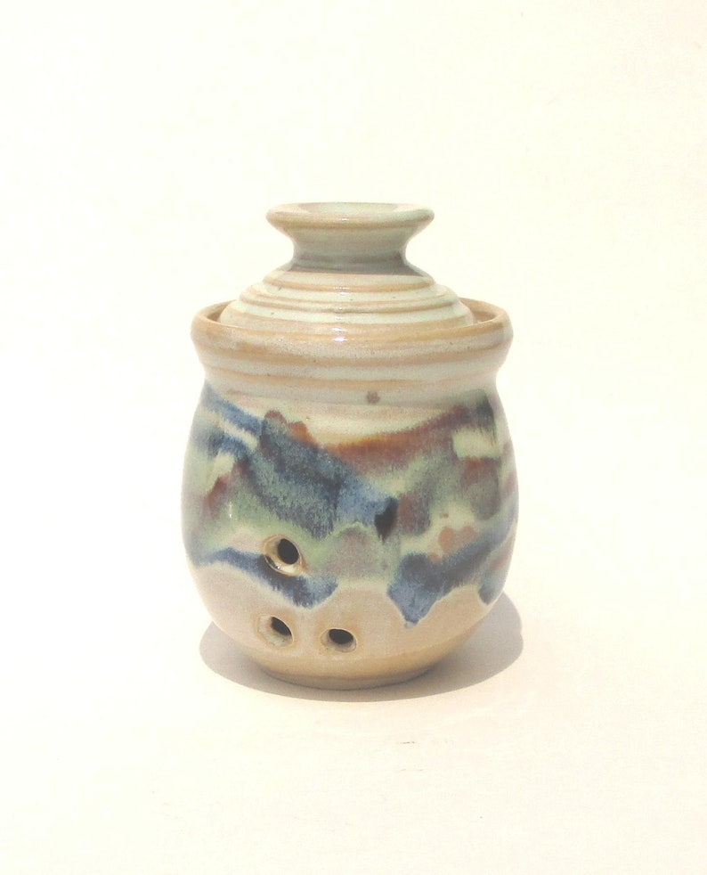 Garlic Keeper Storage Jar  Rio Grande Glaze image 0