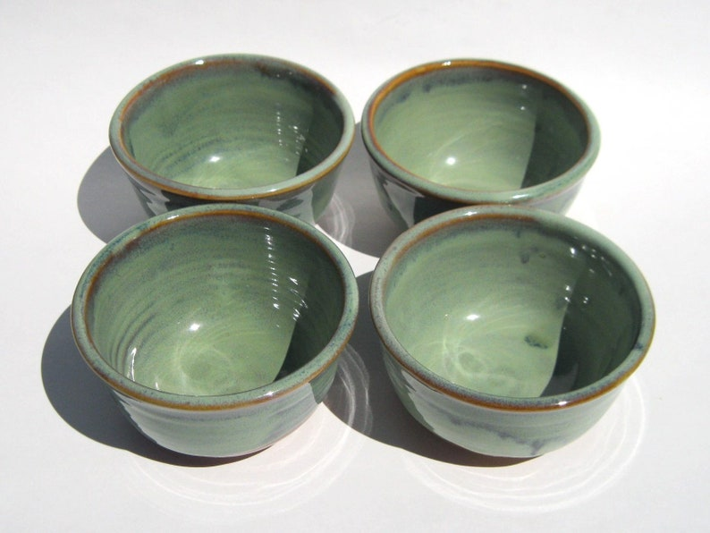 Ice Cream Bowl Set of Four  Ponderosa Glaze image 0