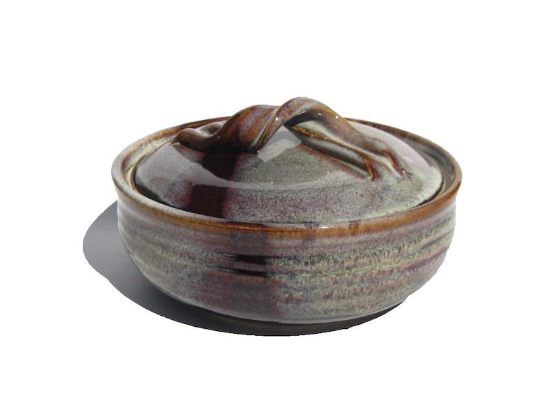 Medium Size Casserole  Coffee Latte Glaze image 0