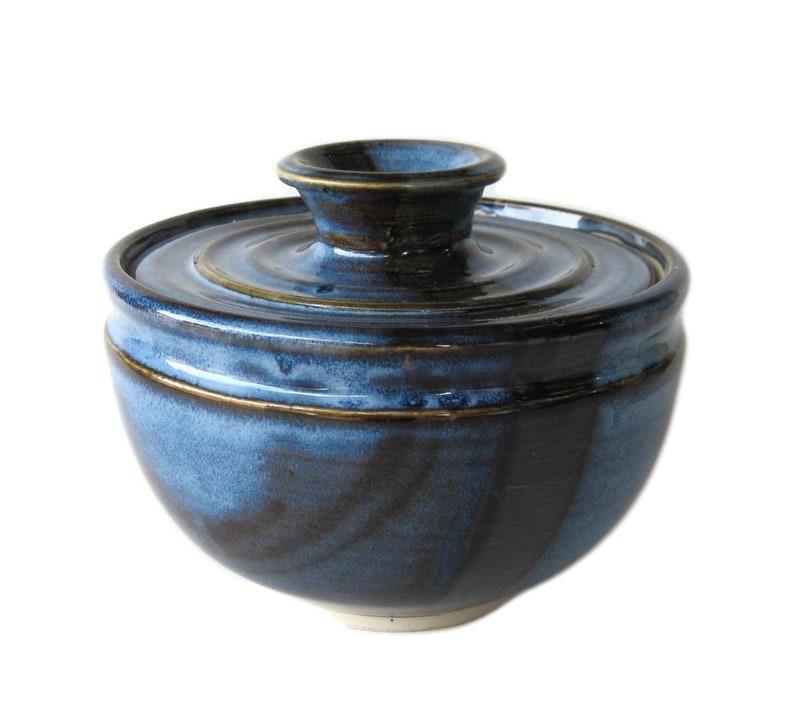 Coffee Filter Storage Jar  Pacifica Blue Glaze image 0
