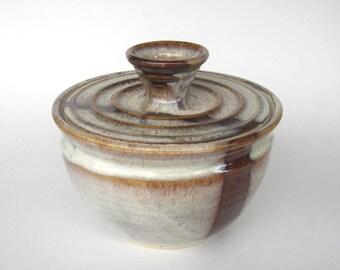 Coffee Filter Storage Jar - Coffee Latte Glaze