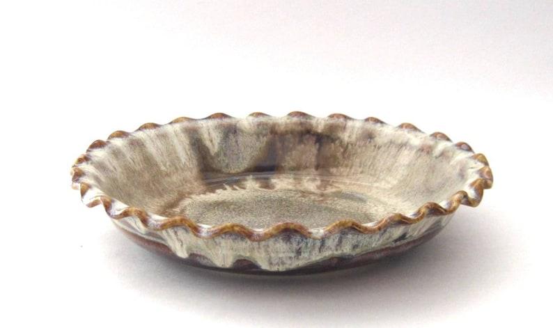 Pie  Quiche Plate  Coffee Latte Glaze image 0