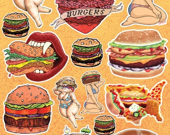 The Studio JFISH Burger Sticker Sheet