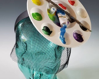 Artist Palette Headband - Sueños de Dalí  - The Art of Fashion - Comfortable and Lightweight