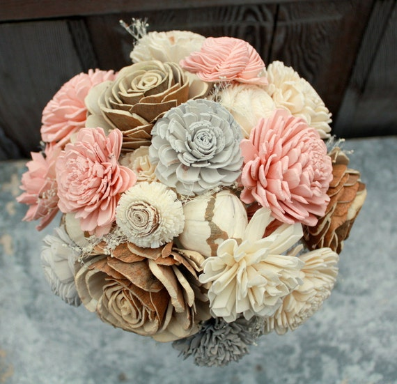 Items Similar To Sola Flower Bouquet, Eco Flower Wedding