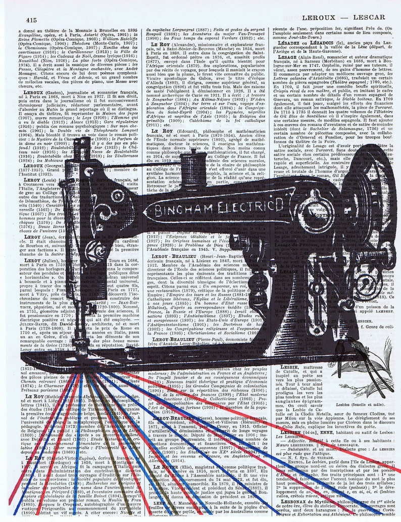 ANTIQUE SEWING THREAD AD ALTERED ART UPCYCLED VINTAGE DICTIONARY ART PAGE PRINT!
