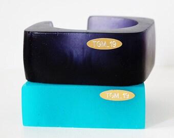 LITH_4, bracelet en résine, déclaration bijoux, bracelet résine, bracelet bleu, bijoux italien, fait à la main en Italie, série lithium1