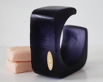 LITH_5, bracelet en résine, déclaration bijoux, bracelet résine, bracelet violet, bijoux italien, fait à la main en Italie, série lithium1