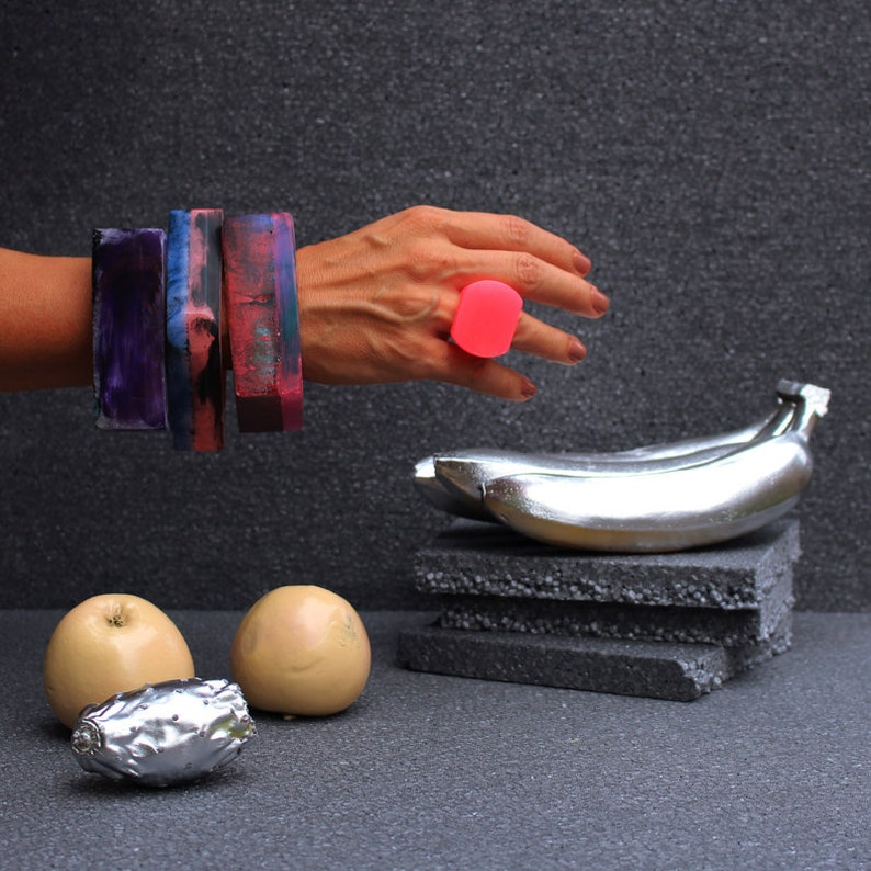 resin bangle resin bracelet handmade in italy AS/_20 italian jewelry