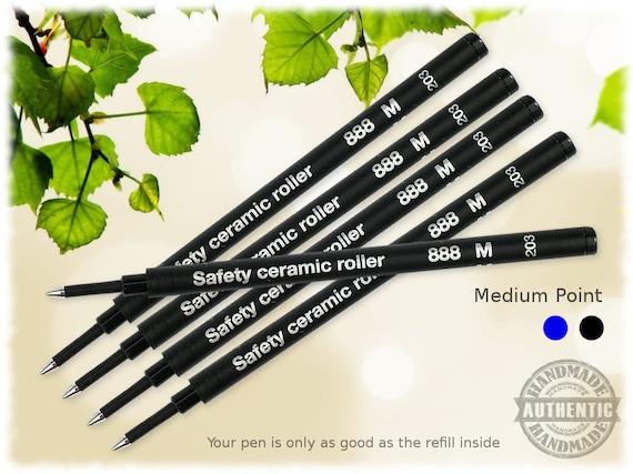 P900 Ballpoint Refills for Rotring Pens 5 Pack Black Medium