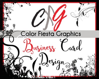 Custom Business card or Hang tag graphic design - double-sided - plus a round of complimentary edits - custom calling card visiting artwork