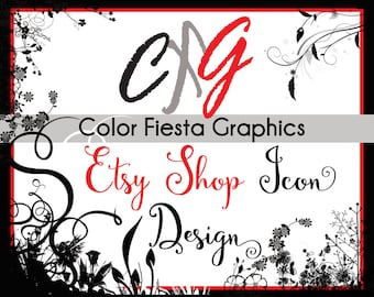 Custom Etsy shop icon image design -  plus a round of UNLIMITED complimentary edits - etsy logo profile picture photo graphic design