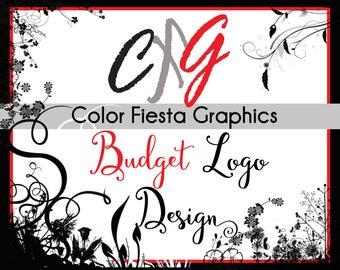Custom logo design - BUDGET package one round of free edits - logo graphic design service boutique professional unique modern shop branding