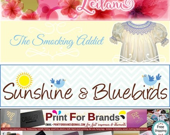 Custom Etsy cover banner, shop icon and profile picture design - with round of UNLIMITED FREE edits - discount custom graphic design package