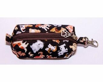 Handmade Hand Sanitiser Clip Bag - Dogs