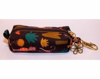 Handmade Hand Sanitiser Clip Bag - Leopards
