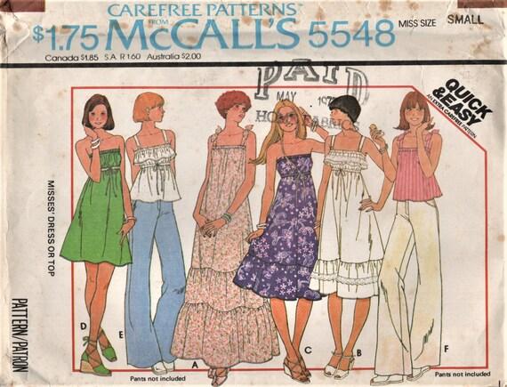 6a73c09f337b McCall s 5548 Summertime Tops or Sundresses Strapless
