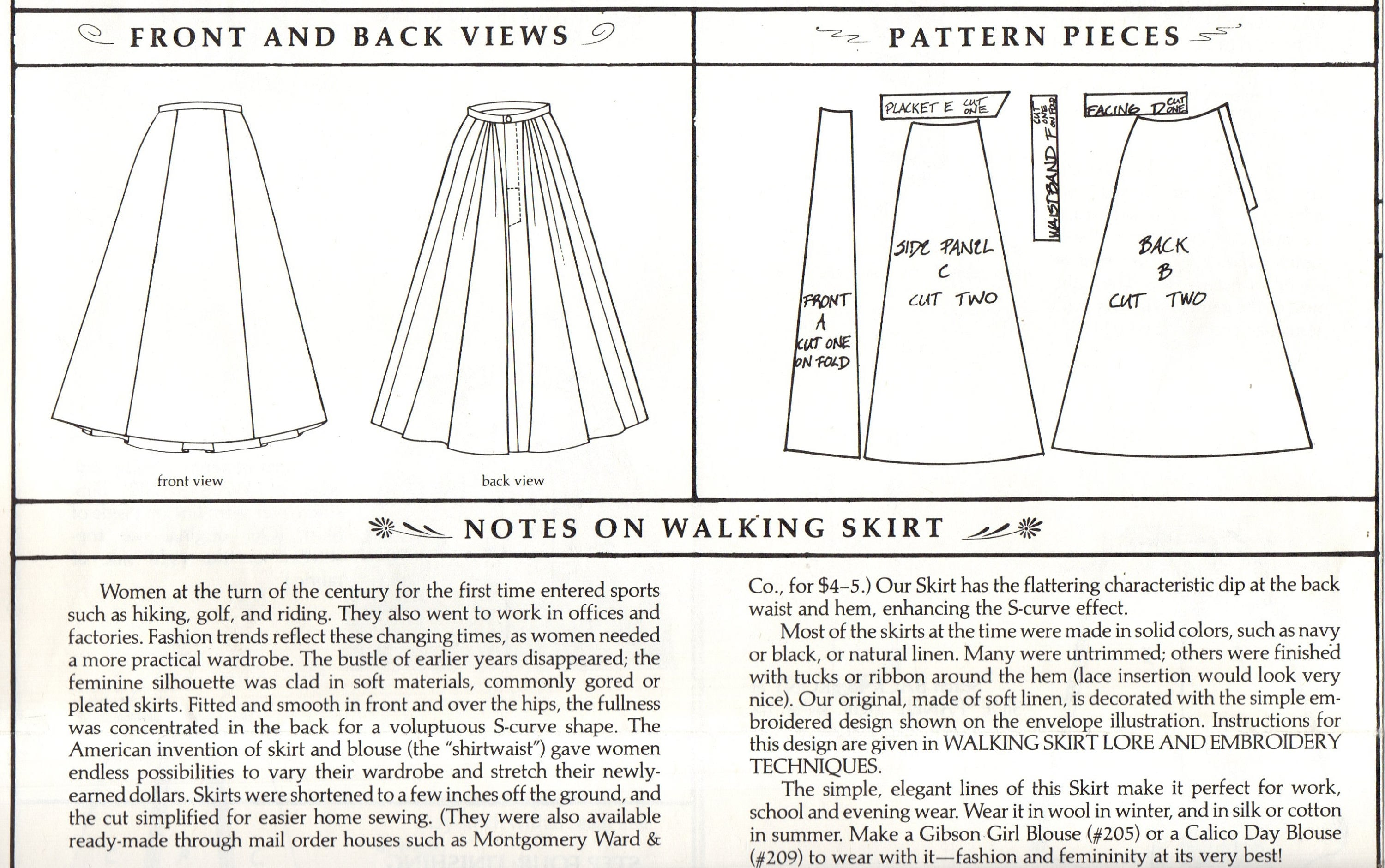 Sewing the 209 walking skirt by Folkwear (sewing forum at