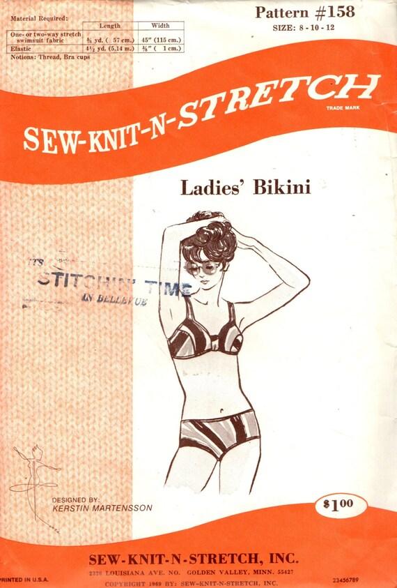 Nähen-stricken-N-Stretch Muster 158 Damen BIKINI 1960er Jahre | Etsy