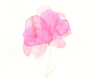 """Watercolor flower painting, """"Pink Posy"""""""