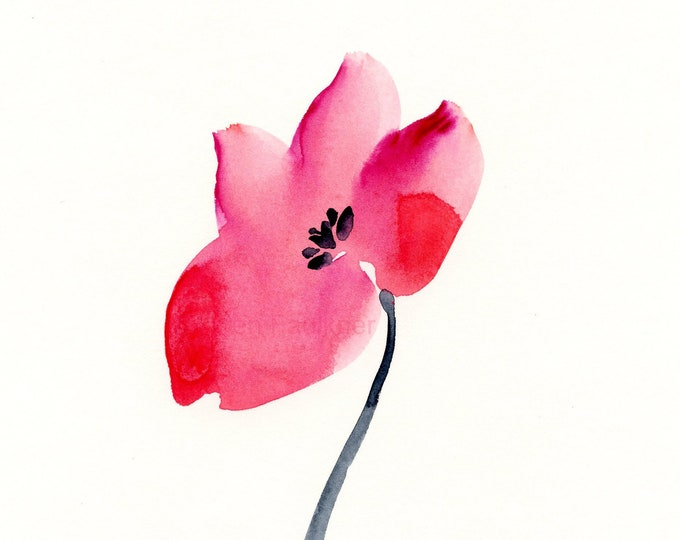 "Watercolor flowers, original painting: ""Flourish"""