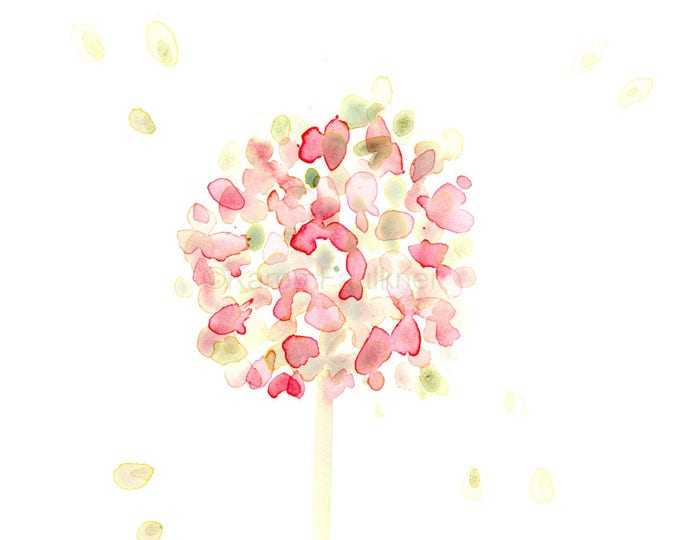 Watercolor flower note cards, set of four assorted