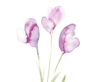 """Original floral watercolor painting: """"Blossoming"""""""