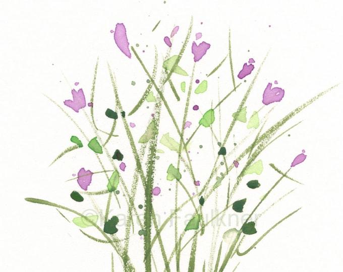 "Watercolor herbs art print: ""Thyme"""