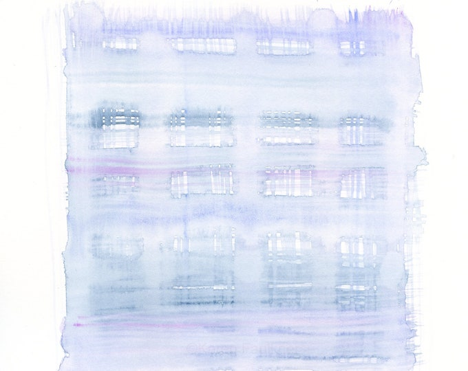 """Watercolor abstract, original painting, """"Mystical"""""""