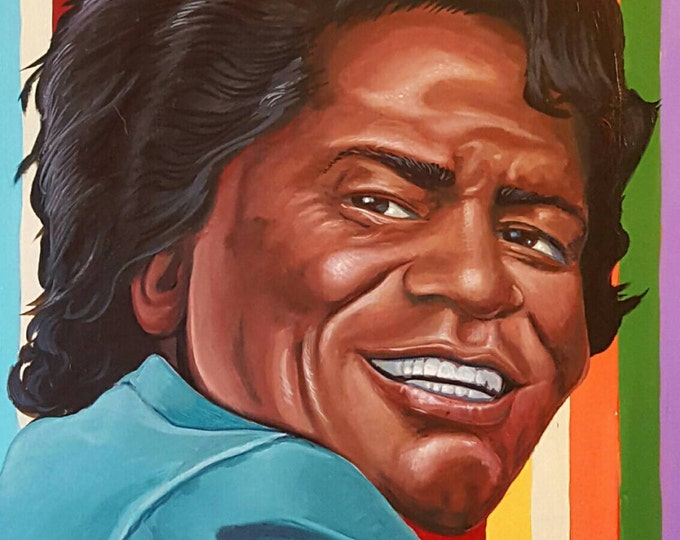 Featured listing image: James Brown - Original painting by Mr Hooper of Nashville Tennessee